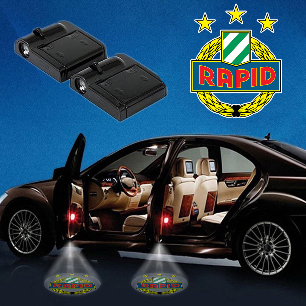 Carfbau1- 07 - SK Rapid Wien Wireless Car Door Projector