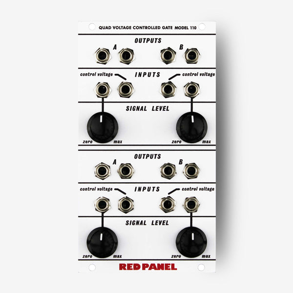 Buchla red panel Model 110