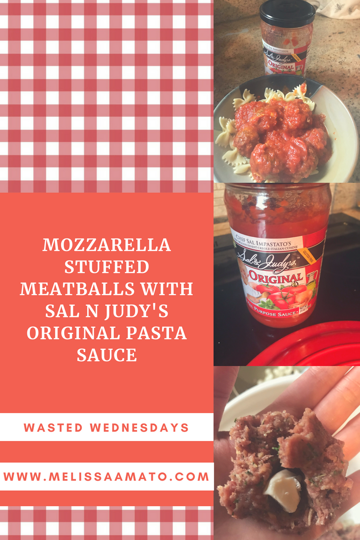 Mozzarella Stuffed Meatballs!