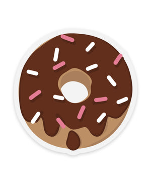 Chocolate Donut Clear Sticker