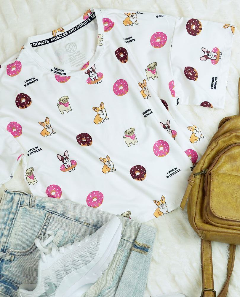 Dogs & Donuts - All Over Print Crop Top