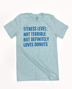 Fitness Level - Heather Blue Tee