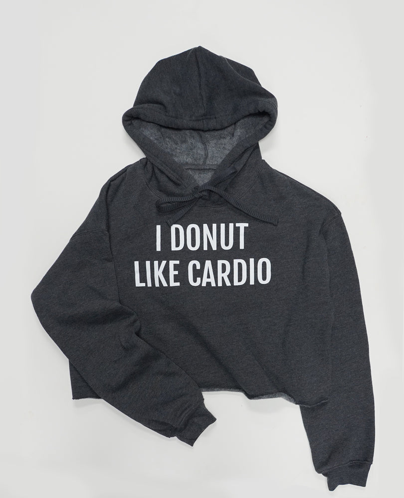 I Donut Like Cardio - Cropped Fleece Hoodie