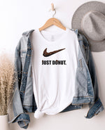 Just Donut. White Tee