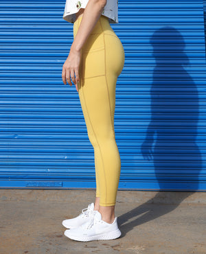 Sweet Pocket Leggings - Yellow