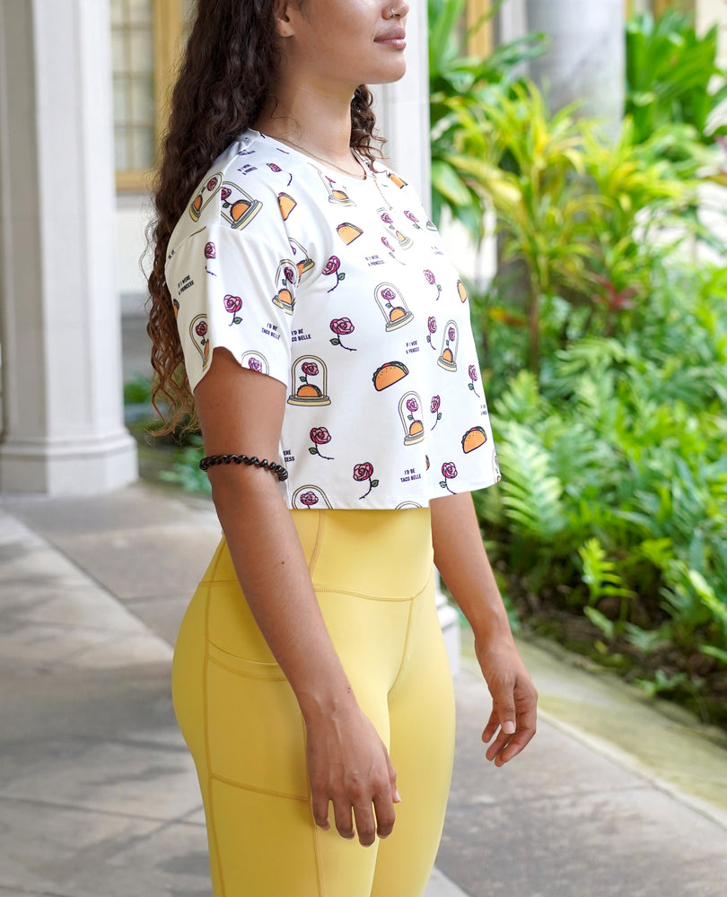 Taco Belle - All Over Print Crop Top