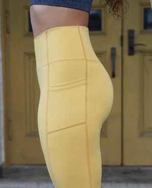 Load image into Gallery viewer, Sweet Pocket Leggings - Yellow