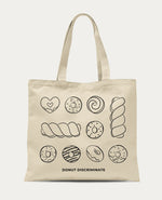 Donut Discriminate - Large Canvas Tote Bags
