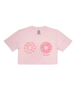 DONUT TOUCH! Pink Cropped Tee