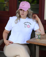 Fueled by Coffee & Donuts - Cropped Tee