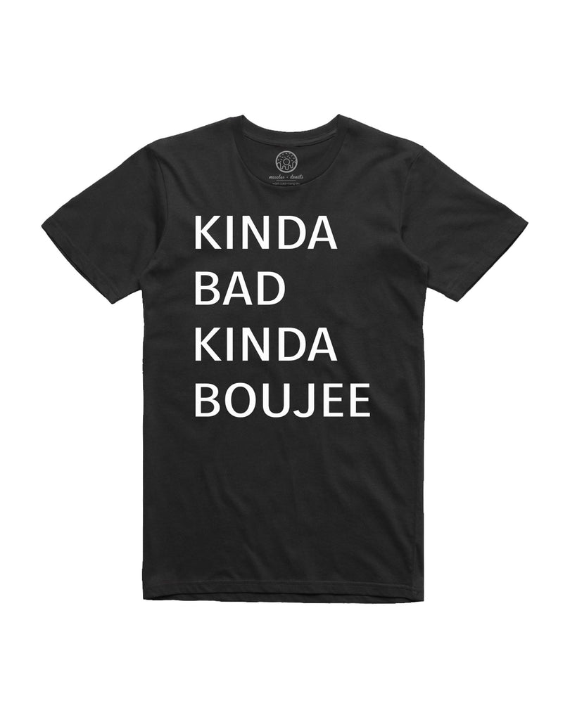 muscles and donuts bad and boujee black tshirt tee