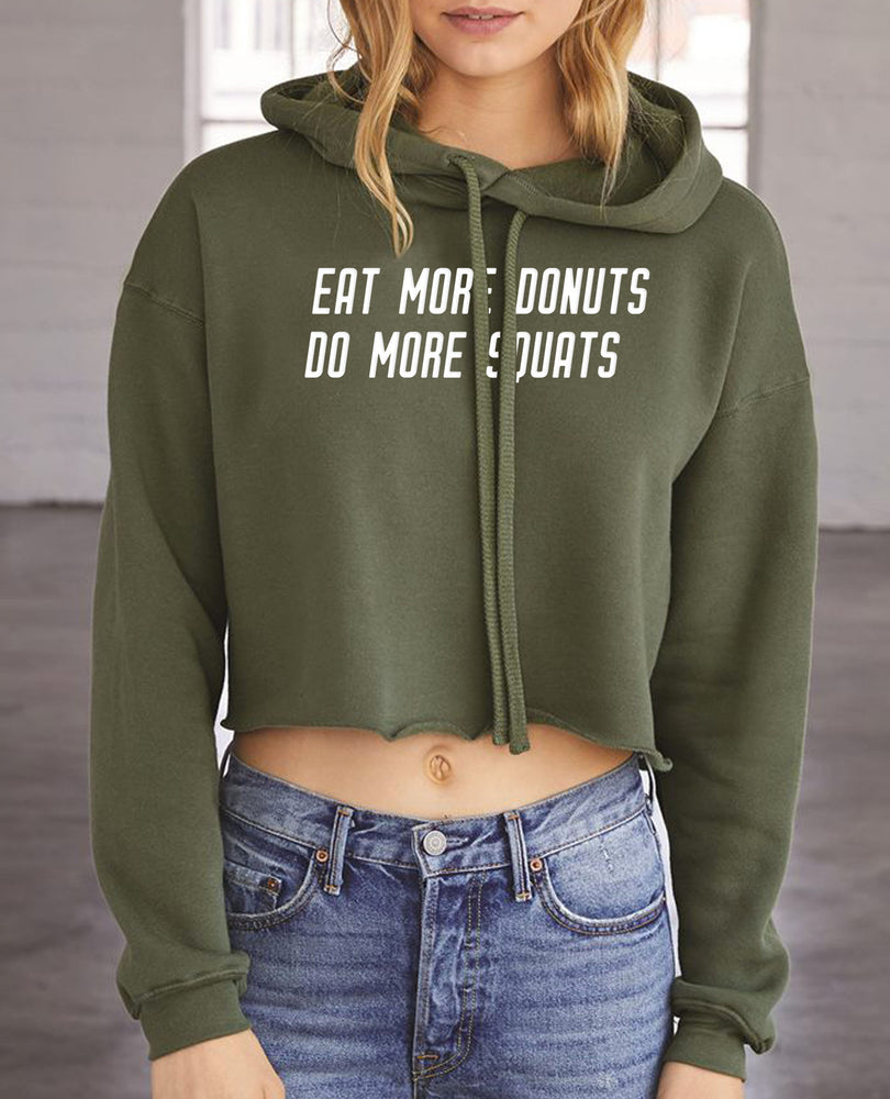 More Donuts. More Squats Fleece Hoodie