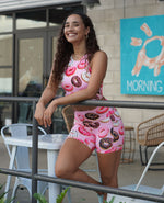 Donut Active Crop Top - Pink