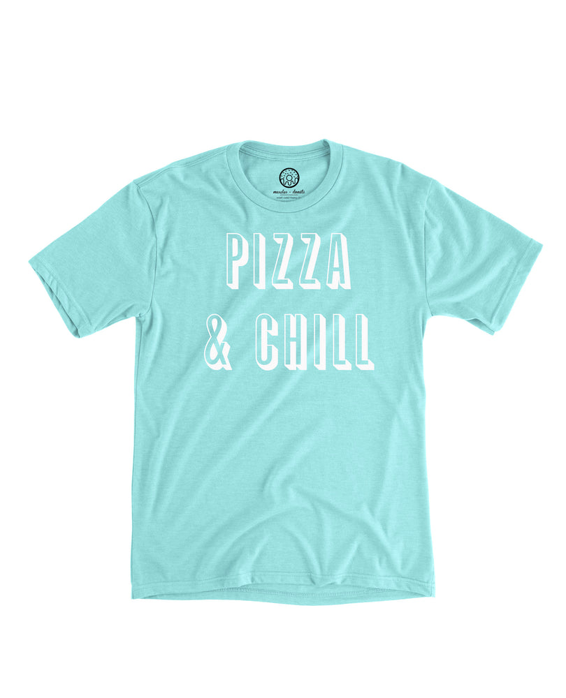 Load image into Gallery viewer, Pizza & Chill - Triblend Sea Green