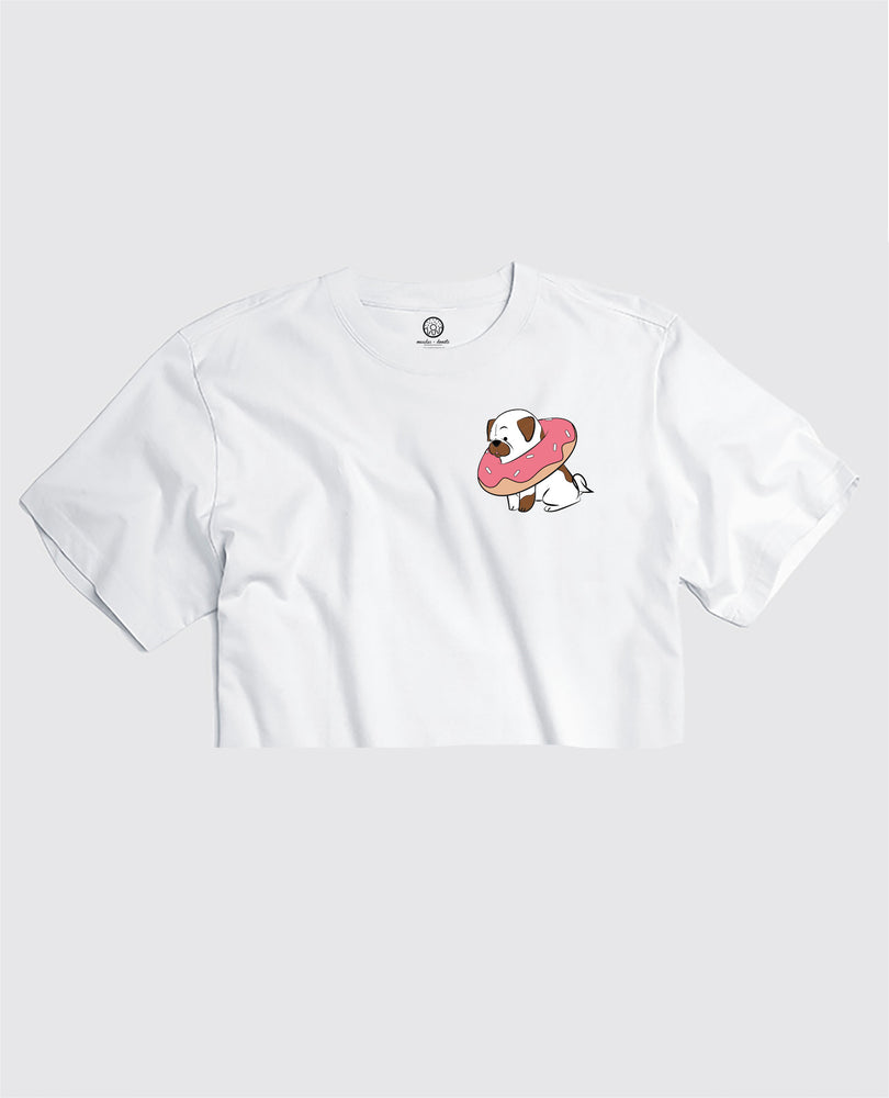 Pups & Donuts - Cropped Tee