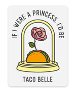If I Were A Princess Clear Sticker