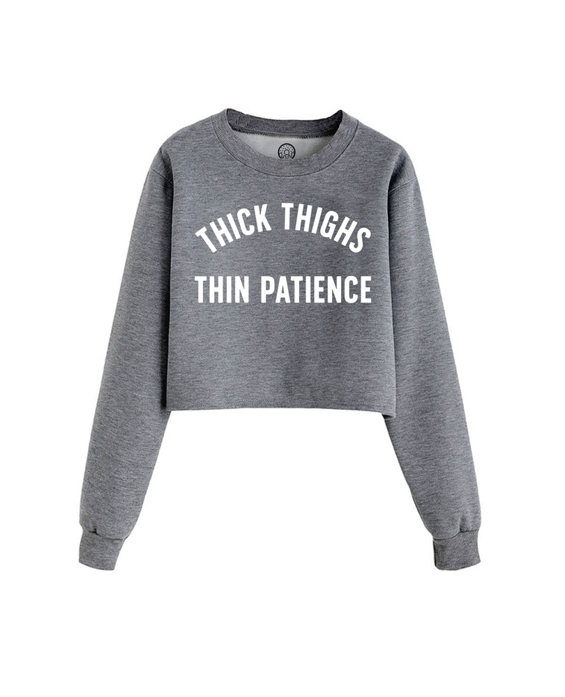 Thick Thighs Cropped Crew Fleece