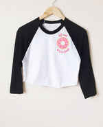 DONUT LOVER RAGLAN CROP TOP
