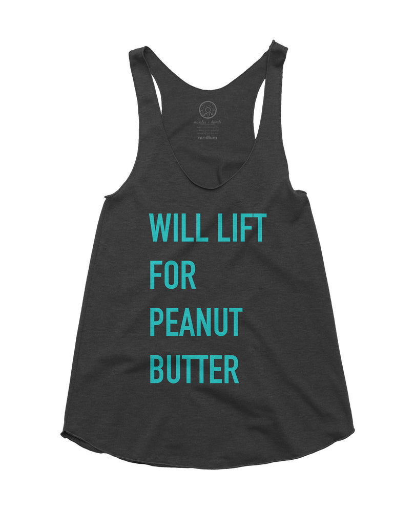 Muscles and donuts will lift for peanut butter