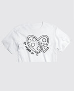 Pizza My Heart - Cropped Tee