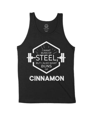 Buns of Steel - Black Unisex Tank