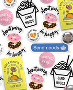 Foodie Sticker & Pin Pack