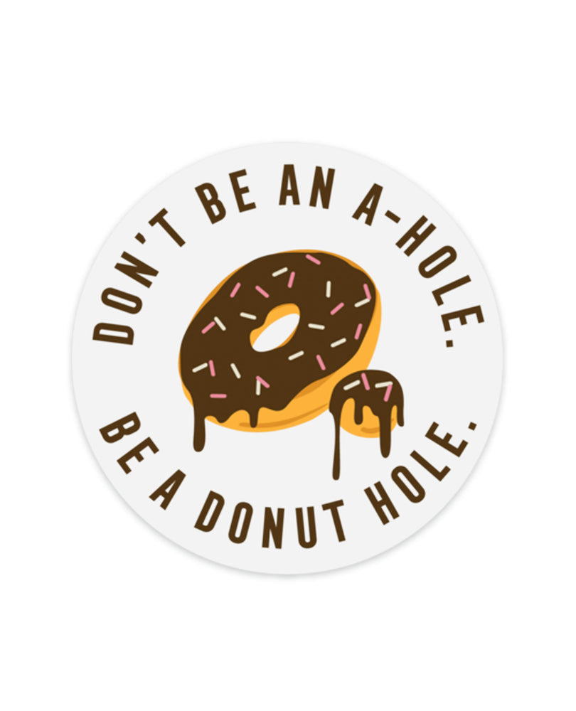Donut Hole  Clear Sticker