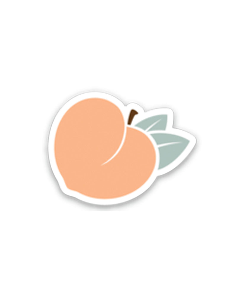 Peach Clear Sticker