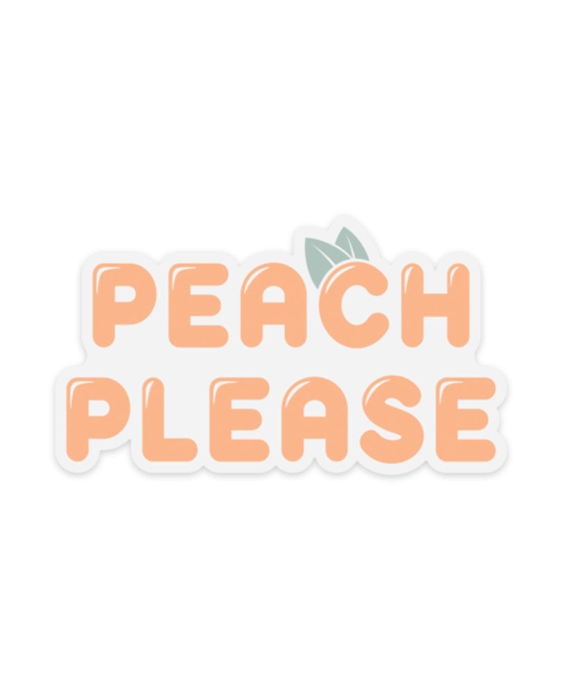 PEACH PLEASE Clear Sticker