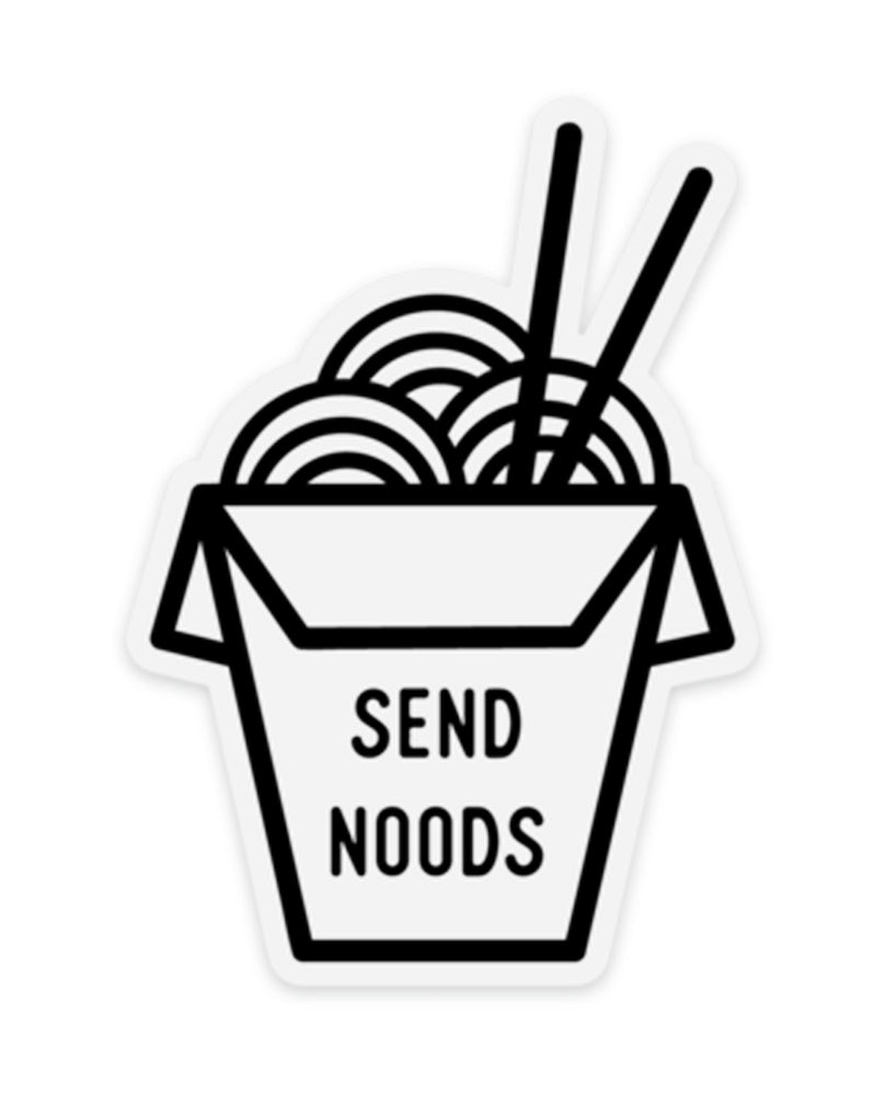 Noods! Take-Out Box Clear Sticker