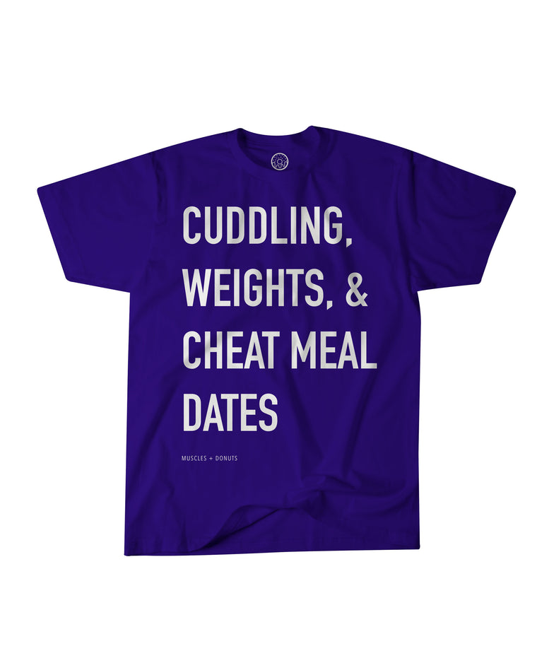 Cheat Meal Dates | Navy Blue Unisex T-shirt