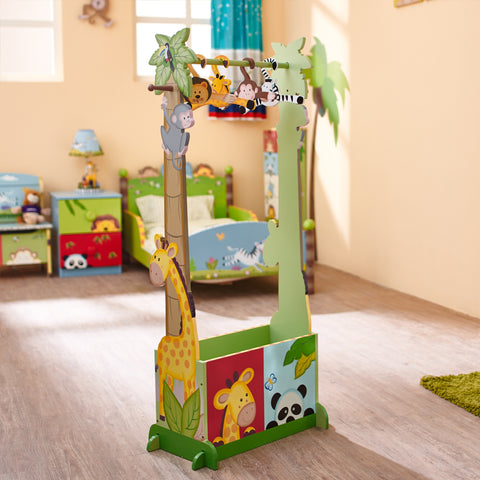 Sunny Safari - Dress Up Storage with 4 Hangers : Fantasy Fields® Official Website
