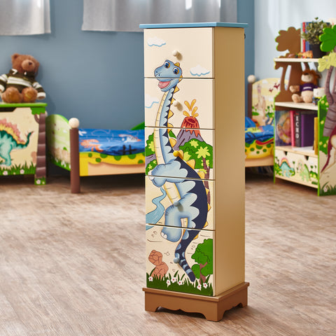Dinosaur Kingdom - Storage Cabinet with 5 Drawers : Fantasy Fields® Official Website