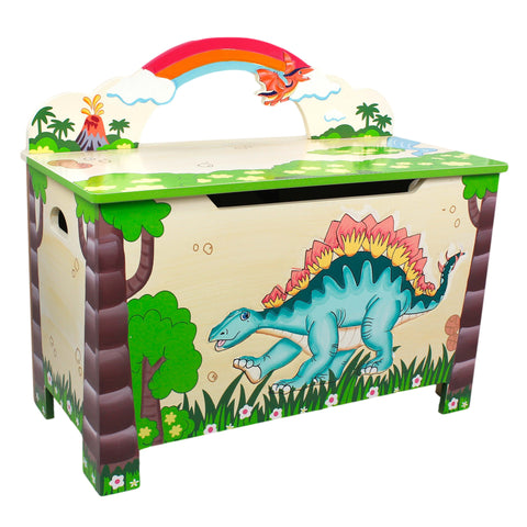 Dinosaur Kingdom - Toy Chest with Safety Hinges : Fantasy Fields® Official Website