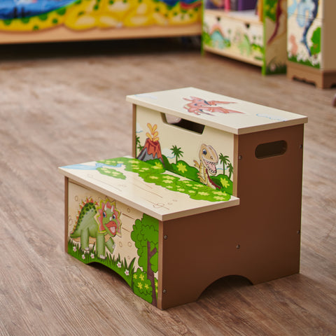 Dinosaur Kingdom - Step Stool with Storage : Fantasy Fields® Official Website