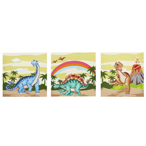 Dinosaur Kingdom - Canvas Wall Art Set : Fantasy Fields® Official Website