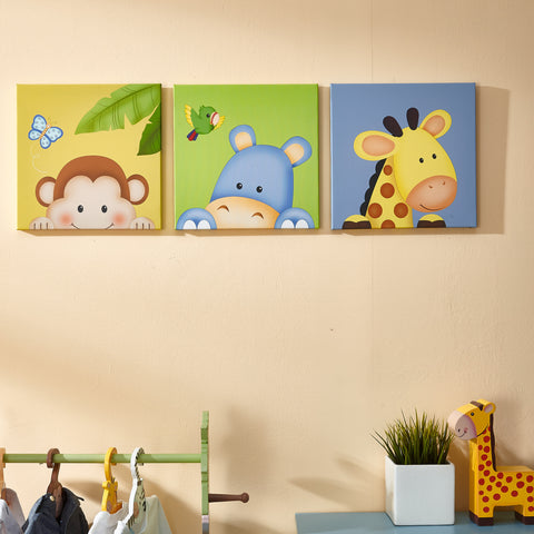 Sunny Safari - Canvas Wall Art Set : Fantasy Fields® Official Website