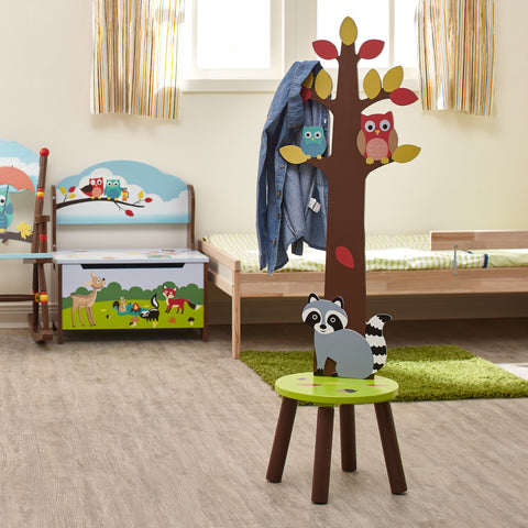 Enchanted Woodland - Stool with Coat Rack : Fantasy Fields® Official Website