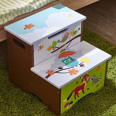 Enchanted Woodland - Step Stool with Storage : Fantasy Fields® Official Website
