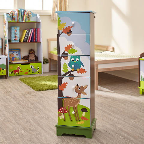 Enchanted Woodland - Storage Cabinet with 5 Drawers : Fantasy Fields® Official Website