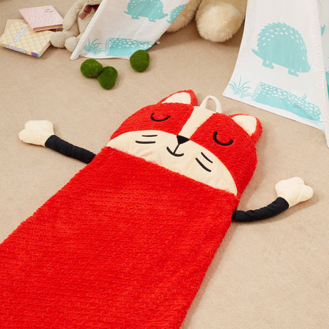 Pajama Party Time Sleeping Bag - Fox