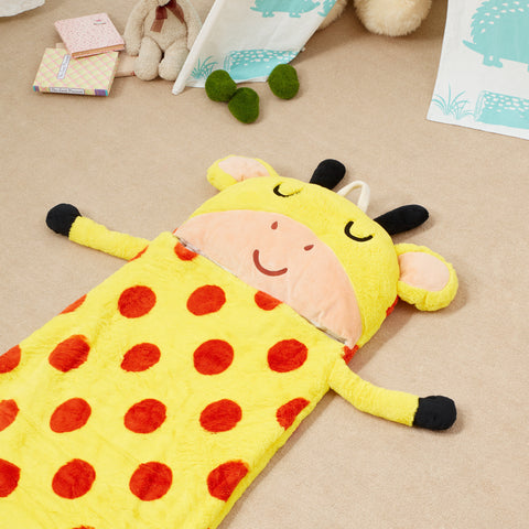 Pajama Party Time Sleeping Bag - Giraffe