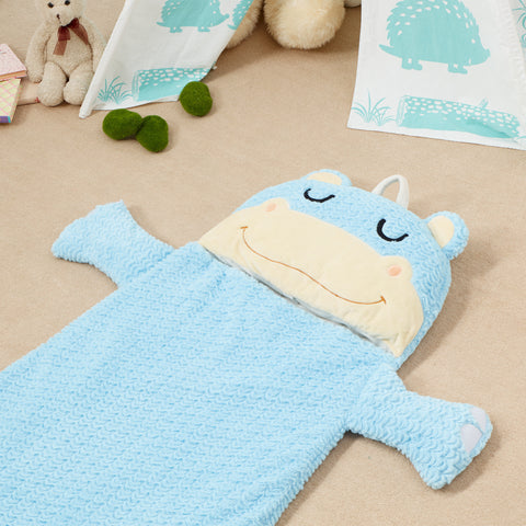 Pajama Party Time Sleeping Bag - Hippo
