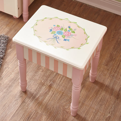 Bouquet - Vanity Stool with Storage : Fantasy Fields® Official Website
