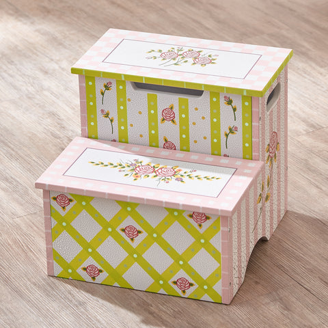 Crackled Rose - Step Stool with Storage : Fantasy Fields® Official Website