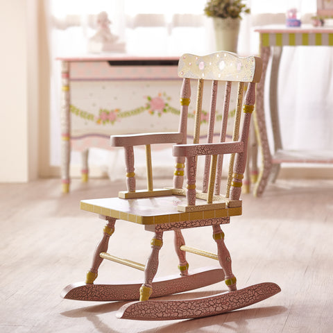 Crackled Rose - Rocking Chair : Fantasy Fields® Official Website