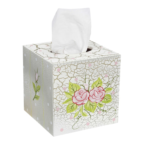 Crackled Rose - Tissue Box Cover : Fantasy Fields® Official Website