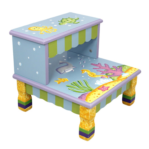 Under The Sea - Step Stool with Storage : Fantasy Fields® Official Website