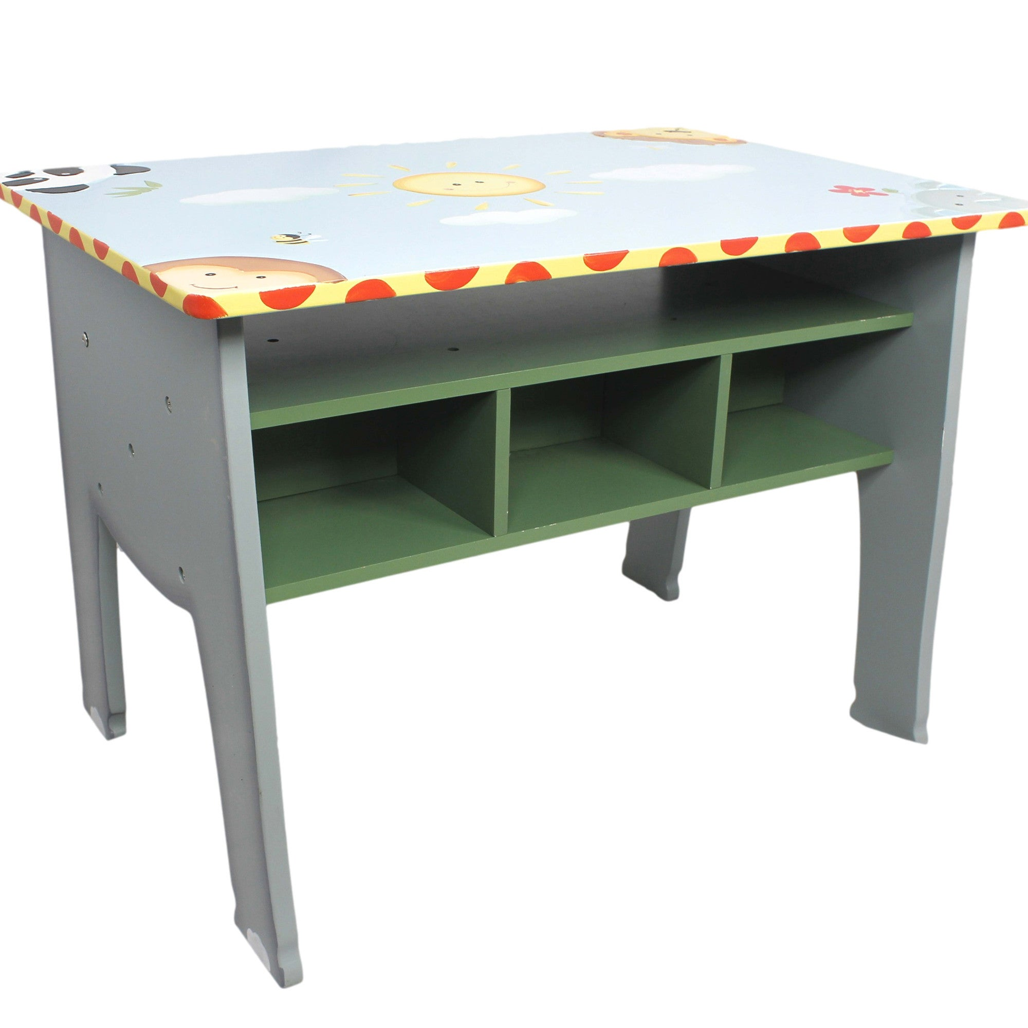 Kids wooden toy chest sunny safari -  Sunny Safari Desk With Storage Fantasy Fields Official Website