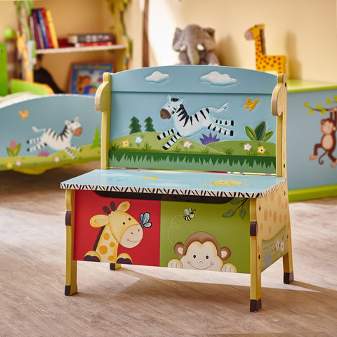Sunny Safari - Storage Bench : Fantasy Fields® Official Website